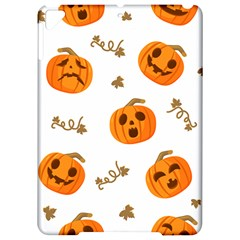 Funny Spooky Halloween Pumpkins Pattern White Orange Apple Ipad Pro 9 7   Hardshell Case