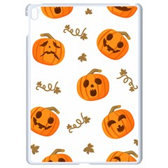 Funny Spooky Halloween Pumpkins Pattern White Orange Apple Ipad Pro 9 7   White Seamless Case by HalloweenParty