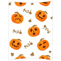 Funny Spooky Halloween Pumpkins Pattern White Orange Back Support Cushion