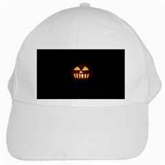 Funny Spooky Scary Halloween Pumpkin Jack O Lantern White Cap by HalloweenParty