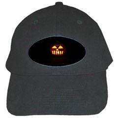 Funny Spooky Scary Halloween Pumpkin Jack O Lantern Black Cap by HalloweenParty