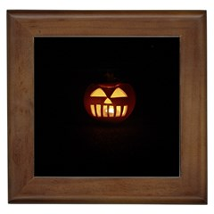 Funny Spooky Scary Halloween Pumpkin Jack O Lantern Framed Tiles by HalloweenParty
