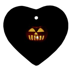 Funny Spooky Scary Halloween Pumpkin Jack O Lantern Ornament (heart)