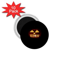 Funny Spooky Scary Halloween Pumpkin Jack O Lantern 1 75  Magnets (10 Pack)