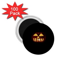 Funny Spooky Scary Halloween Pumpkin Jack O Lantern 1 75  Magnets (100 Pack)