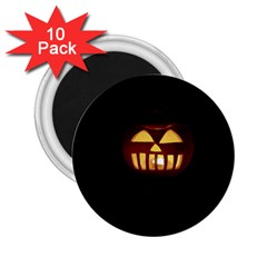Funny Spooky Scary Halloween Pumpkin Jack O Lantern 2.25  Magnets (10 pack)