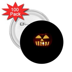 Funny Spooky Scary Halloween Pumpkin Jack O Lantern 2 25  Buttons (100 Pack)  by HalloweenParty