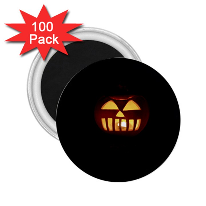 Funny Spooky Scary Halloween Pumpkin Jack O Lantern 2.25  Magnets (100 pack)