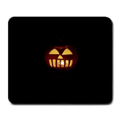 Funny Spooky Scary Halloween Pumpkin Jack O Lantern Large Mousepads by HalloweenParty