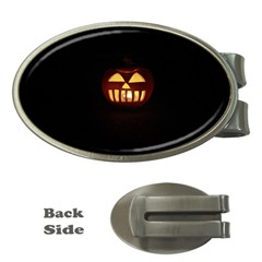Funny Spooky Scary Halloween Pumpkin Jack O Lantern Money Clips (oval)