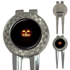 Funny Spooky Scary Halloween Pumpkin Jack O Lantern 3 In 1 Golf Divots