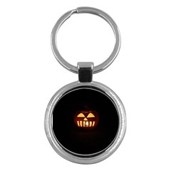 Funny Spooky Scary Halloween Pumpkin Jack O Lantern Key Chains (round)