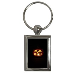 Funny Spooky Scary Halloween Pumpkin Jack O Lantern Key Chains (rectangle)