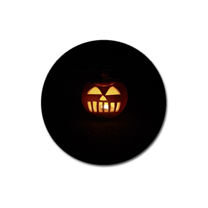 Funny Spooky Scary Halloween Pumpkin Jack O Lantern Magnet 3  (Round)