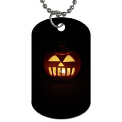 Funny Spooky Scary Halloween Pumpkin Jack O Lantern Dog Tag (one Side)