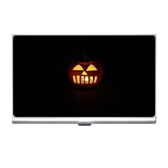 Funny Spooky Scary Halloween Pumpkin Jack O Lantern Business Card Holder