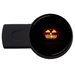 Funny Spooky Scary Halloween Pumpkin Jack O Lantern Usb Flash Drive Round (2 Gb)