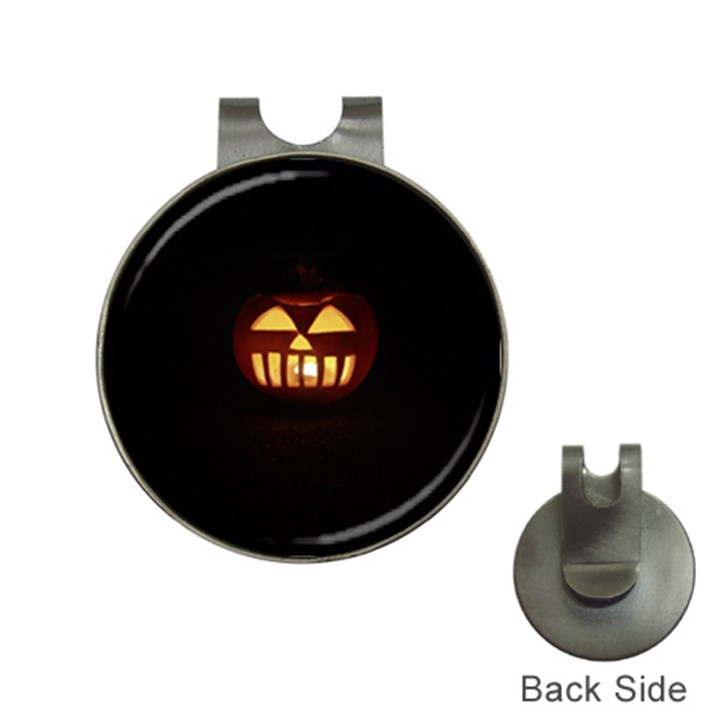 Funny Spooky Scary Halloween Pumpkin Jack O Lantern Hat Clips with Golf Markers