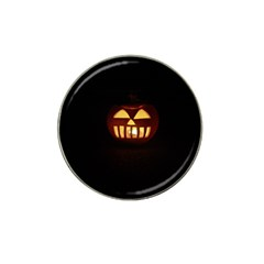 Funny Spooky Scary Halloween Pumpkin Jack O Lantern Hat Clip Ball Marker (4 pack)