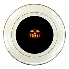 Funny Spooky Scary Halloween Pumpkin Jack O Lantern Porcelain Plates by HalloweenParty