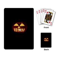 Funny Spooky Scary Halloween Pumpkin Jack O Lantern Playing Cards Single Design