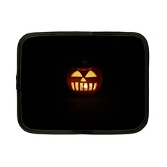 Funny Spooky Scary Halloween Pumpkin Jack O Lantern Netbook Case (small) by HalloweenParty