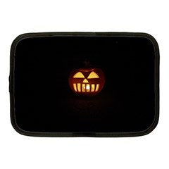 Funny Spooky Scary Halloween Pumpkin Jack O Lantern Netbook Case (medium)