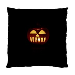 Funny Spooky Scary Halloween Pumpkin Jack O Lantern Standard Cushion Case (two Sides)