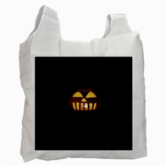 Funny Spooky Scary Halloween Pumpkin Jack O Lantern Recycle Bag (two Side)