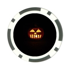 Funny Spooky Scary Halloween Pumpkin Jack O Lantern Poker Chip Card Guard (10 Pack) by HalloweenParty