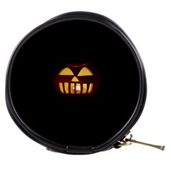 Funny Spooky Scary Halloween Pumpkin Jack O Lantern Mini Makeup Bag