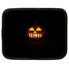 Funny Spooky Scary Halloween Pumpkin Jack O Lantern Netbook Case (xxl) by HalloweenParty