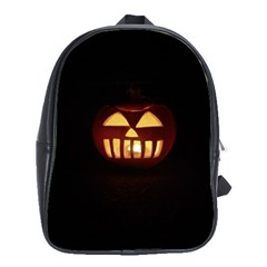 Funny Spooky Scary Halloween Pumpkin Jack O Lantern School Bag (large)