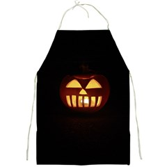 Funny Spooky Scary Halloween Pumpkin Jack O Lantern Full Print Aprons by HalloweenParty
