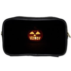 Funny Spooky Scary Halloween Pumpkin Jack O Lantern Toiletries Bag (two Sides)
