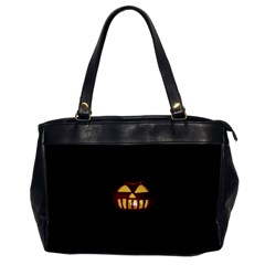 Funny Spooky Scary Halloween Pumpkin Jack O Lantern Oversize Office Handbag by HalloweenParty
