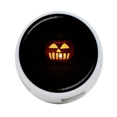 Funny Spooky Scary Halloween Pumpkin Jack O Lantern 4 Port Usb Hub (one Side) by HalloweenParty