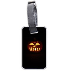 Funny Spooky Scary Halloween Pumpkin Jack O Lantern Luggage Tags (Two Sides)