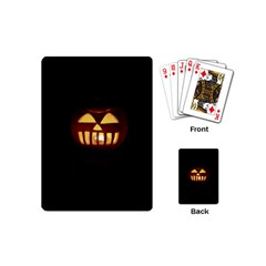 Funny Spooky Scary Halloween Pumpkin Jack O Lantern Playing Cards (Mini)