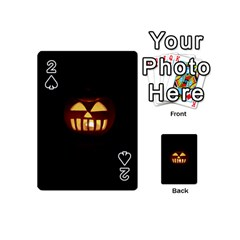 Funny Spooky Scary Halloween Pumpkin Jack O Lantern Playing Cards 54 (mini) by HalloweenParty