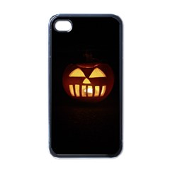 Funny Spooky Scary Halloween Pumpkin Jack O Lantern Apple Iphone 4 Case (black) by HalloweenParty