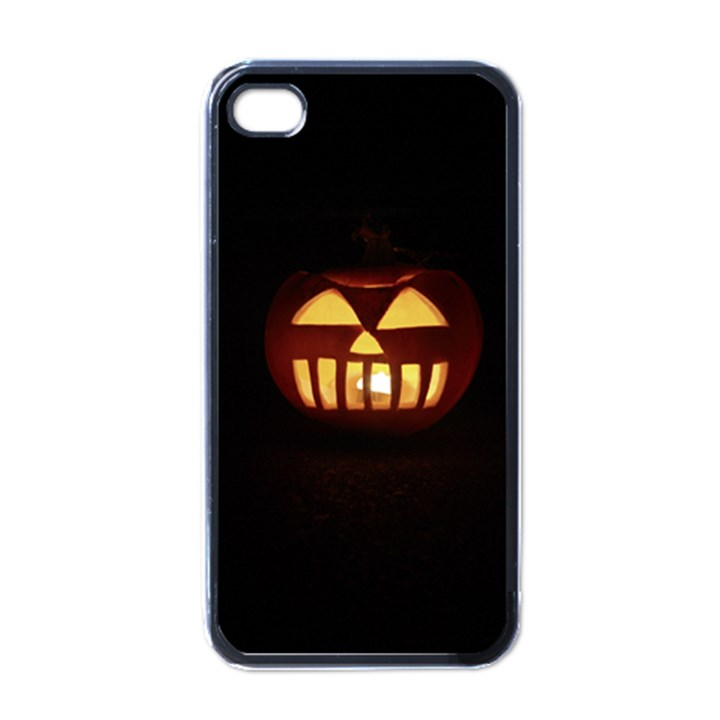 Funny Spooky Scary Halloween Pumpkin Jack O Lantern Apple iPhone 4 Case (Black)