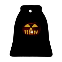 Funny Spooky Scary Halloween Pumpkin Jack O Lantern Bell Ornament (two Sides)