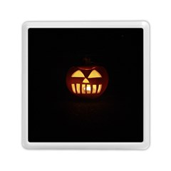 Funny Spooky Scary Halloween Pumpkin Jack O Lantern Memory Card Reader (square) by HalloweenParty