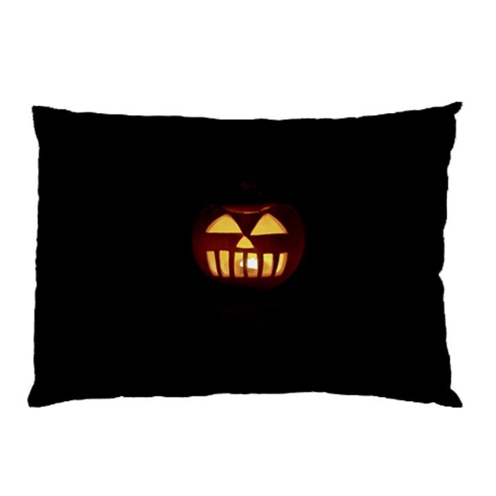Funny Spooky Scary Halloween Pumpkin Jack O Lantern Pillow Case (Two Sides)
