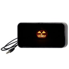 Funny Spooky Scary Halloween Pumpkin Jack O Lantern Portable Speaker
