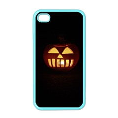 Funny Spooky Scary Halloween Pumpkin Jack O Lantern Apple Iphone 4 Case (color)