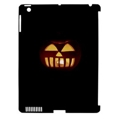 Funny Spooky Scary Halloween Pumpkin Jack O Lantern Apple Ipad 3/4 Hardshell Case (compatible With Smart Cover) by HalloweenParty