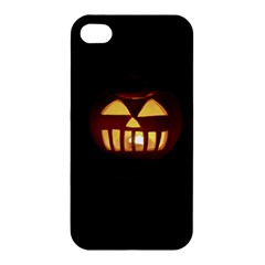 Funny Spooky Scary Halloween Pumpkin Jack O Lantern Apple Iphone 4/4s Premium Hardshell Case by HalloweenParty
