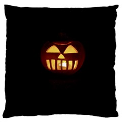 Funny Spooky Scary Halloween Pumpkin Jack O Lantern Large Cushion Case (one Side) by HalloweenParty